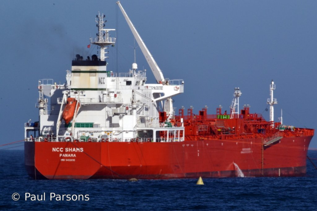 Name: NCC Shams  IMO: 9459010 Flag: Panama Chemical and Product Tankers Mossel Bay (Western Cape)
